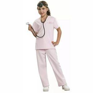 🆕 Childrens VETERINARIAN Costume Pink Med Large